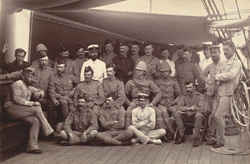 Group of officers of the Burmah Expeditionary Force on board the